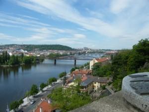 Překrásný pohled na Prahu