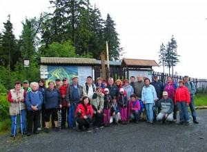 Účastníci zájezdu na Špičák