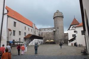 Nádvoří strakonického hradu