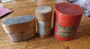 Původní dřevěné krabičky na sirky