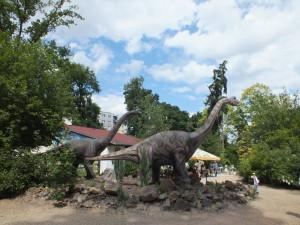 Dinosauři v plzeňské ZOO.